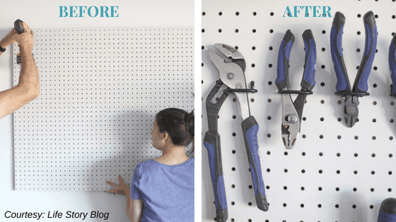 Before & After Pegboard